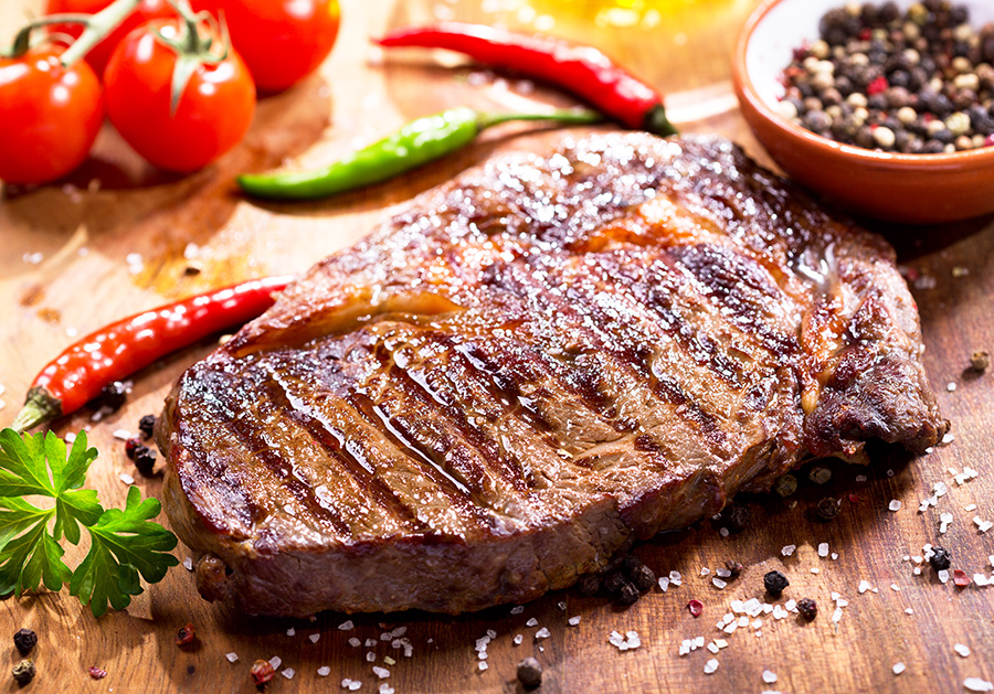 стейк из свинины на гриль сковороде рецепт